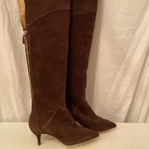 "Nine West ""Heelium"" brown boots 5.5"